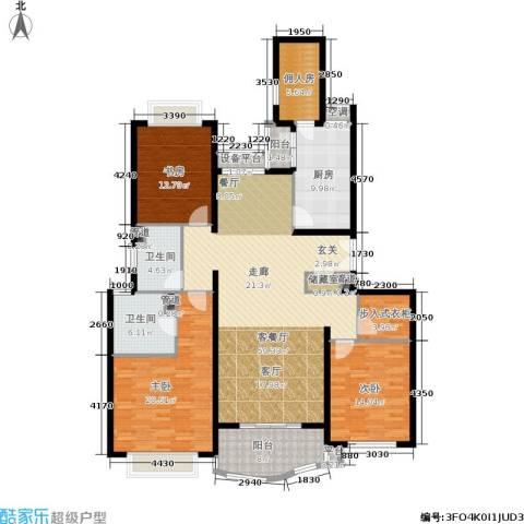 虹桥乐庭3室1厅2卫1厨160.00㎡户型图