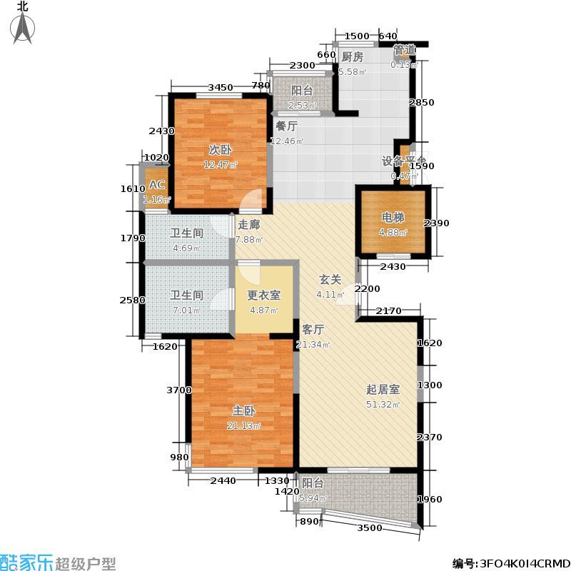 泰府名邸130.98㎡A面积13098m户型