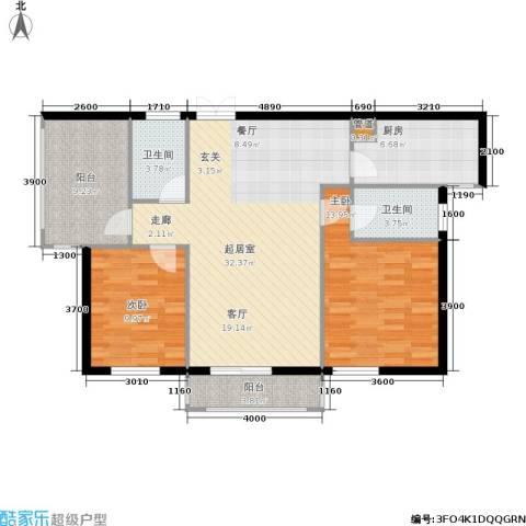 红树湾2室0厅2卫1厨106.00㎡户型图