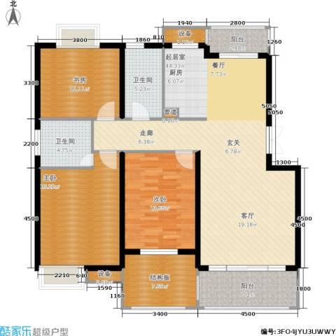 米兰风景3室0厅2卫0厨128.00㎡户型图