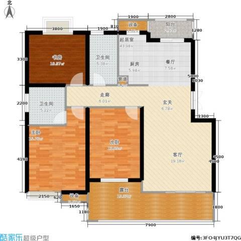 米兰风景3室0厅2卫0厨119.00㎡户型图
