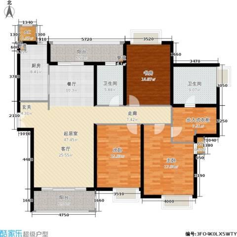 远中风华园3室0厅2卫1厨167.00㎡户型图