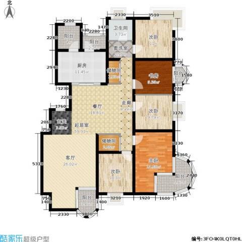 大上海国际花园5室0厅1卫1厨172.00㎡户型图