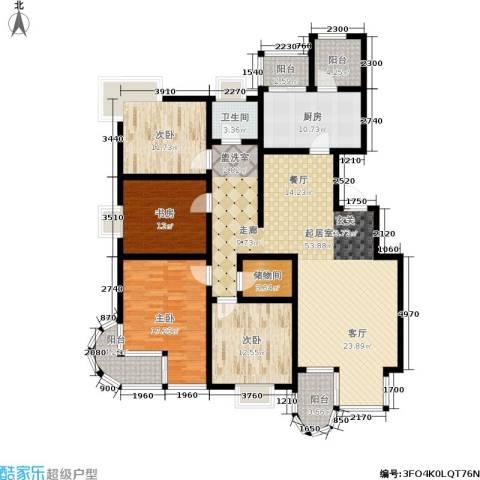 大上海国际花园4室0厅1卫1厨161.00㎡户型图