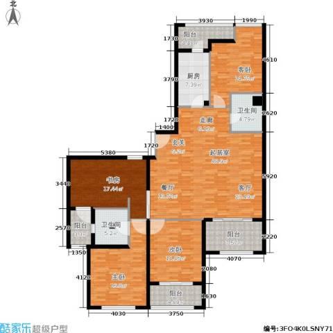 绿洲雅宾利花园4室0厅2卫1厨169.00㎡户型图