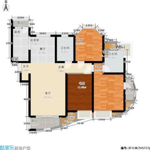爱家星河国际3室0厅2卫1厨140.00㎡户型图