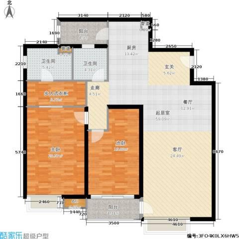 远中风华园2室0厅2卫0厨135.00㎡户型图