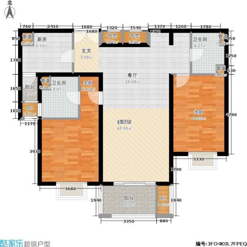 君御豪庭112.91㎡A022面积11291m户型