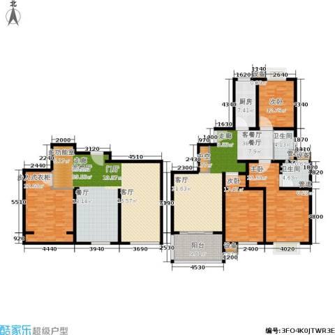 马陆清水湾公寓3室2厅2卫1厨204.54㎡户型图