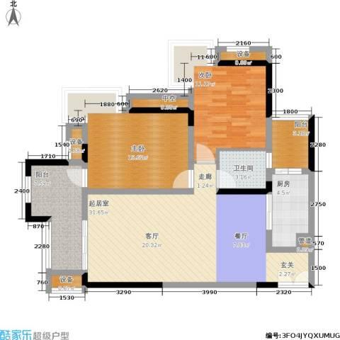 约克郡汀兰2室0厅1卫1厨80.00㎡户型图