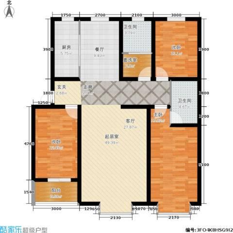 阳光水岸3室0厅2卫1厨138.00㎡户型图