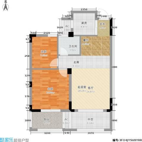 尚格・康桥别院2室0厅1卫1厨81.00㎡户型图