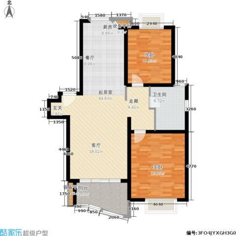 海逸公寓2室0厅1卫0厨98.00㎡户型图