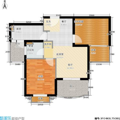 东方帕堤欧花园小城1室0厅1卫1厨98.00㎡户型图