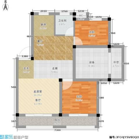 尚格・康桥别院2室0厅1卫0厨78.00㎡户型图