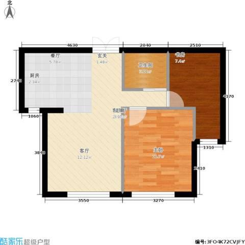 凯利花园2室1厅1卫0厨72.00㎡户型图