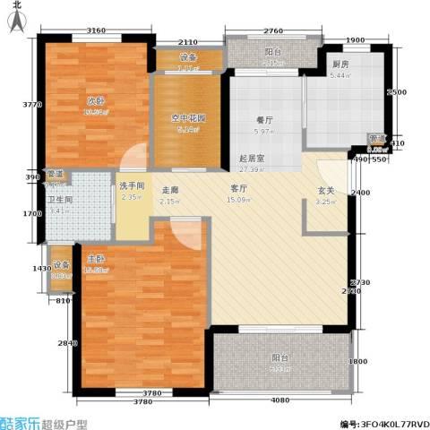 东方帕堤欧花园小城2室0厅1卫1厨111.00㎡户型图
