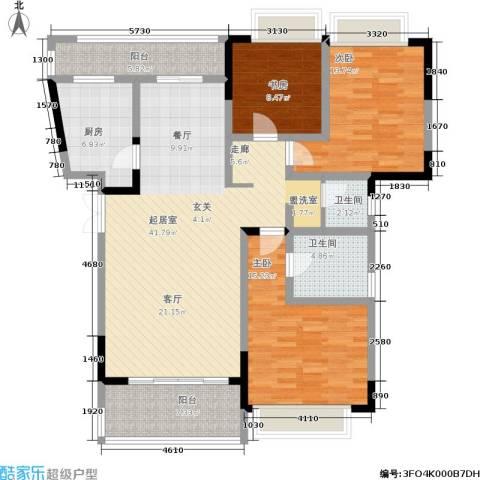凤天锦园3室0厅2卫1厨113.00㎡户型图