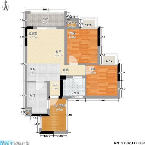 晶山新城际2室0厅1卫1厨78.00㎡户型图