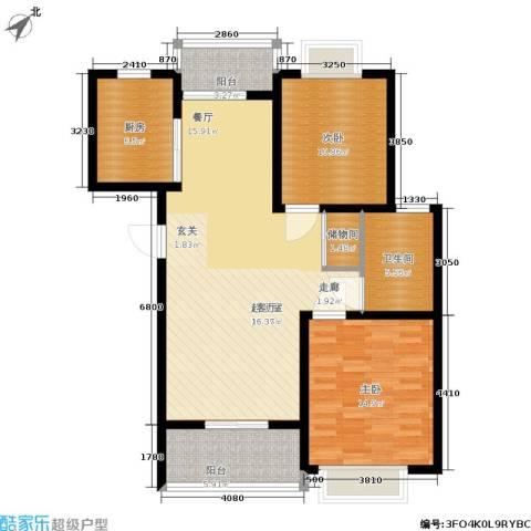 成亿宝盛家苑2室0厅1卫1厨119.00㎡户型图