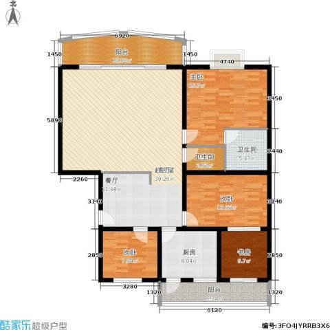 庆业巴蜀城4室0厅2卫1厨145.00㎡户型图