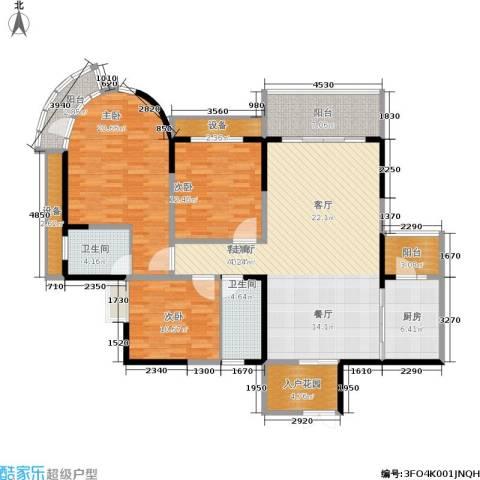小龙坎正街3室1厅2卫1厨138.00㎡户型图
