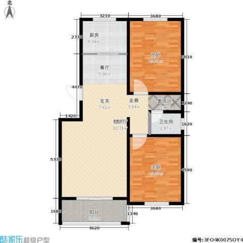 三鼎雅园2室1厅1卫1厨100.00㎡户型图