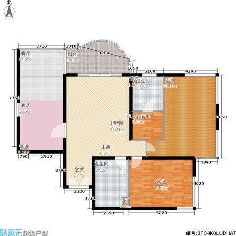 财富海景花园2室1厅2卫0厨161.00㎡户型图