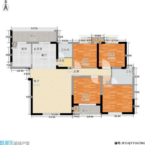 阳光南滨4室0厅2卫1厨130.00㎡户型图