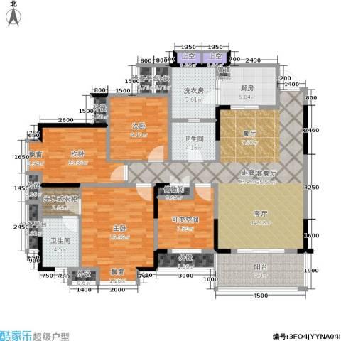 龙湖水晶郦城一组团3室1厅2卫1厨169.00㎡户型图