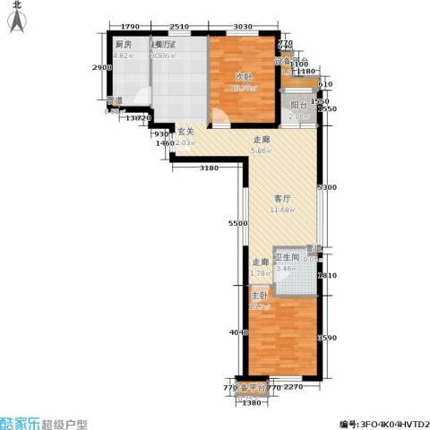 东洲家园2室0厅1卫1厨74.16㎡户型图