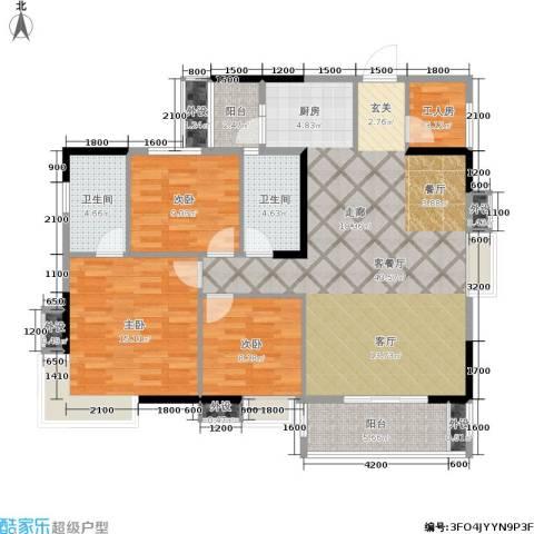 龙湖水晶郦城一组团3室1厅2卫0厨139.00㎡户型图