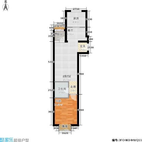 东洲家园1室0厅1卫1厨53.21㎡户型图