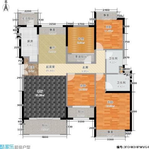 香悦四季(合景溪西里)3室0厅2卫1厨136.00㎡户型图