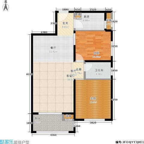 文星大厦2室1厅1卫1厨90.00㎡户型图