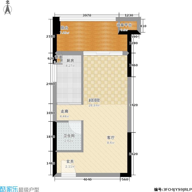 学府怡景37.27㎡一期高层1、2号楼标准层C户型