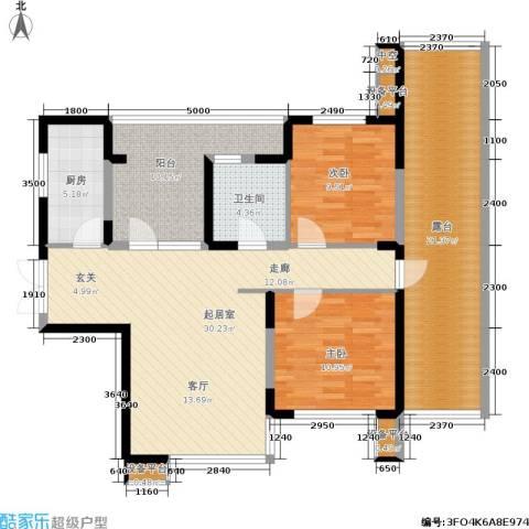 永泰枕流GOLF公寓2室0厅1卫1厨96.00㎡户型图