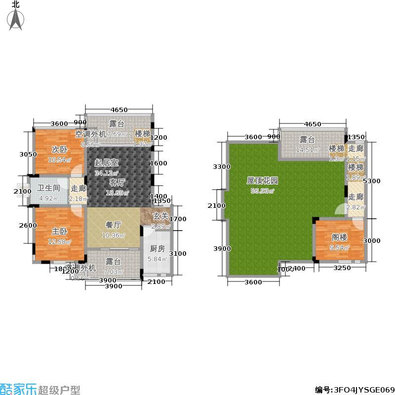 巨豪香溪美林94.00㎡E型六层户型