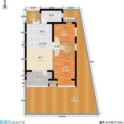 永泰枕流GOLF公寓2室0厅1卫1厨130.76㎡户型图