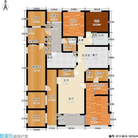 淮海晶华3室0厅3卫1厨222.00㎡户型图