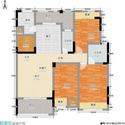 雍晟状元府邸3室1厅2卫1厨161.00㎡户型图