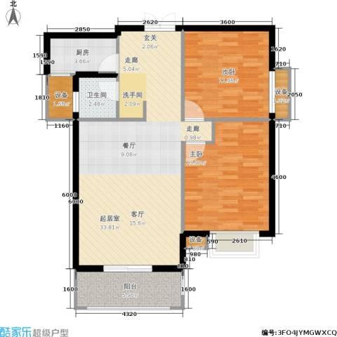 利君未来城2室0厅1卫1厨92.00㎡户型图
