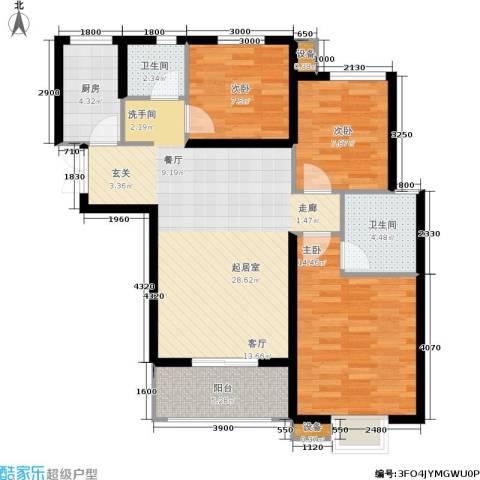 利君未来城3室0厅2卫1厨112.00㎡户型图