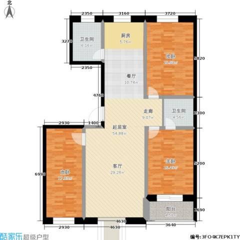 唐县丽景花园3室0厅2卫0厨135.00㎡户型图
