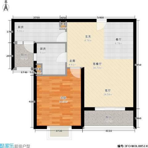 达安春之声花园1室1厅0卫2厨73.00㎡户型图