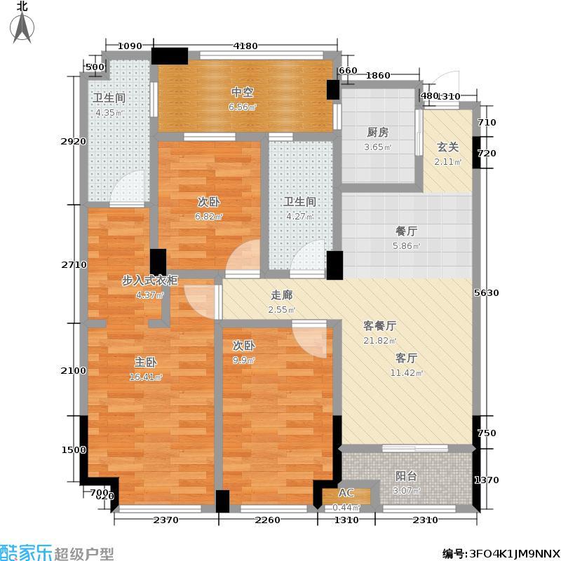 中港金岸罗兰89.00㎡户型3室2厅