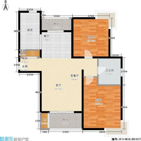 达安春之声花园2室1厅1卫1厨100.00㎡户型图