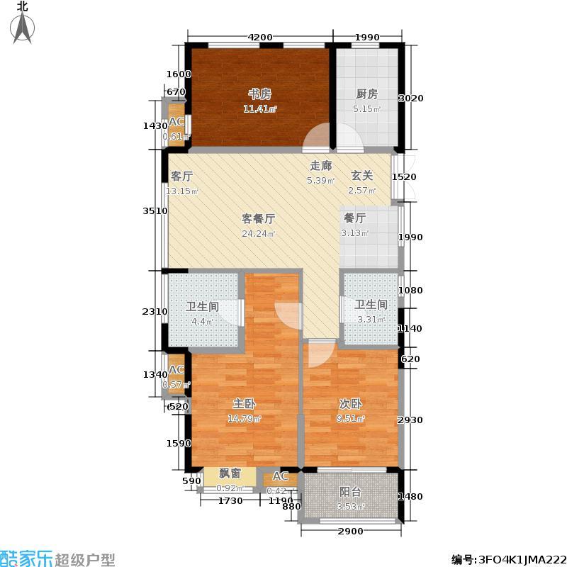 未来之芯89.00㎡A1户型3室2厅