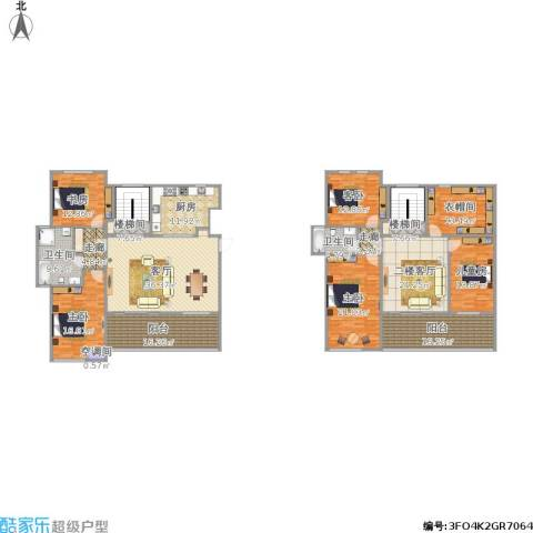 泰达风景5室1厅2卫1厨316.00㎡户型图