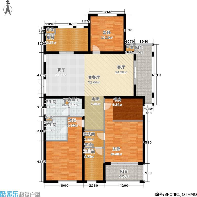 悦麒美寓180.00㎡H奇数层户型3室2厅